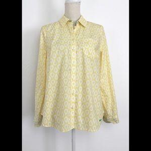 New Talbots Blouse Button-Down Shirt Blouse